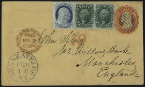Sale Number 998, Lot Number 293, Plate One Late On Cover10c Green, Ty. II (14), 10c Green, Ty. II (14)