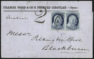 Sale Number 998, Lot Number 294, Plate One Late On Cover1c Blue, Ty. IV (9), 1c Blue, Ty. IV (9)