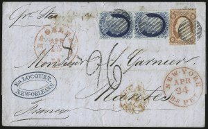 Sale Number 998, Lot Number 296, Plate One Late On Cover1c Blue, Ty. IV (9), 1c Blue, Ty. IV (9)