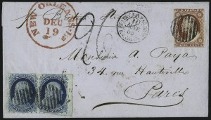 Sale Number 998, Lot Number 297, Plate One Late On Cover1c Dark Blue, Ty. IV (9), 1c Dark Blue, Ty. IV (9)