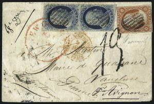 Sale Number 998, Lot Number 298, Plate One Late On Cover1c Blue, Ty. IV (9), 1c Blue, Ty. IV (9)