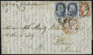 Sale Number 998, Lot Number 299, Plate One Late On Cover1c Blue, Ty. IV (9), 1c Blue, Ty. IV (9)