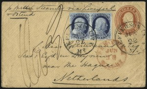 Sale Number 998, Lot Number 301, Plate One Late On Cover1c Blue, Ty. IV (9), 1c Blue, Ty. IV (9)