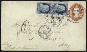 Sale Number 998, Lot Number 302, Plate One Late On Cover1c Blue, Ty. IV (9), 1c Blue, Ty. IV (9)
