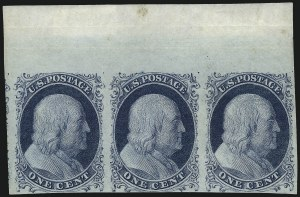 Sale Number 998, Lot Number 310, Plate Two Unused1c Blue, Ty. II (7), 1c Blue, Ty. II (7)