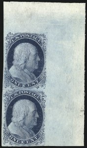 Sale Number 998, Lot Number 311, Plate Two Unused1c Blue, Ty. II (7), 1c Blue, Ty. II (7)