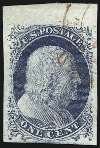 Sale Number 998, Lot Number 323, Plate Two Double Transfers1c Blue, Ty. II (7), 1c Blue, Ty. II (7)