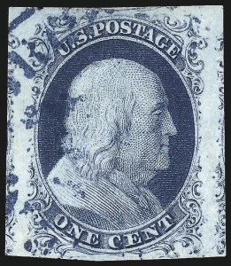 Sale Number 998, Lot Number 324, Plate Two Double Transfers1c Blue, Ty. II (7), 1c Blue, Ty. II (7)