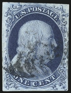 Sale Number 998, Lot Number 325, Plate Two Double Transfers1c Blue, Ty. II (7), 1c Blue, Ty. II (7)