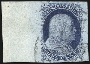 Sale Number 998, Lot Number 327, Plate Two Gem Examples1c Blue, Ty. II (7), 1c Blue, Ty. II (7)