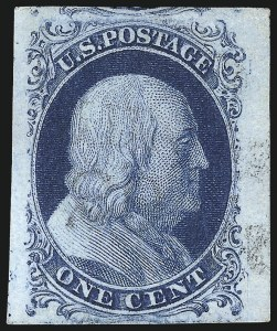 Sale Number 998, Lot Number 329, Plate Two Gem Examples1c Blue, Ty. II (7), 1c Blue, Ty. II (7)