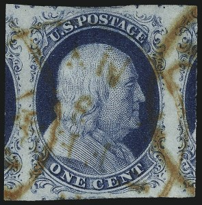 Sale Number 998, Lot Number 330, Plate Two Gem Examples1c Blue, Ty. II (7), 1c Blue, Ty. II (7)