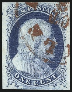 Sale Number 998, Lot Number 332, Plate Two Gem Examples1c Blue, Ty. II (7), 1c Blue, Ty. II (7)