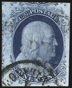 Sale Number 998, Lot Number 336, Plate Two Gem Examples1c Blue, Ty. II (7), 1c Blue, Ty. II (7)
