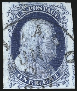 Sale Number 998, Lot Number 339, Plate Two Gem Examples1c Blue, Ty. II (7), 1c Blue, Ty. II (7)