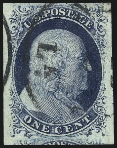 Sale Number 998, Lot Number 340, Plate Two Gem Examples1c Blue, Ty. II (7), 1c Blue, Ty. II (7)
