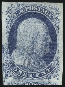 Sale Number 998, Lot Number 341, Plate Two Gem Examples1c Blue, Ty. II (7), 1c Blue, Ty. II (7)