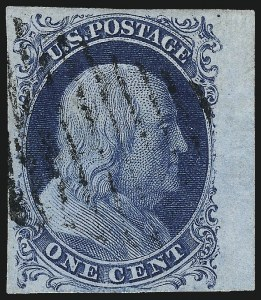 Sale Number 998, Lot Number 342, Plate Two Gem Examples1c Blue, Ty. II (7), 1c Blue, Ty. II (7)