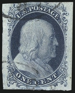 Sale Number 998, Lot Number 346, Plate Two Gem Examples1c Blue, Ty. II (7), 1c Blue, Ty. II (7)
