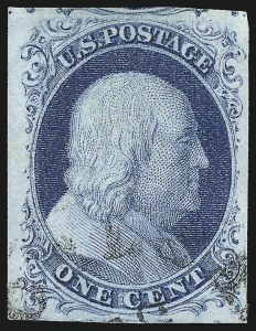 Sale Number 998, Lot Number 347, Plate Two Gem Examples1c Blue, Ty. II (7), 1c Blue, Ty. II (7)