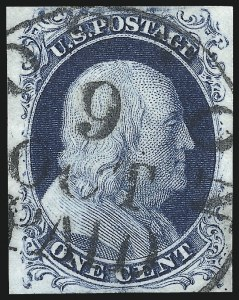 Sale Number 998, Lot Number 348, Plate Two Gem Examples1c Blue, Ty. II (7), 1c Blue, Ty. II (7)