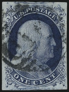 Sale Number 998, Lot Number 349, Plate Two Gem Examples1c Blue, Ty. II (7), 1c Blue, Ty. II (7)