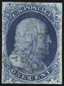 Sale Number 998, Lot Number 352, Plate Two Gem Examples1c Blue, Ty. II (7), 1c Blue, Ty. II (7)