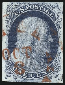Sale Number 998, Lot Number 353, Plate Two Gem Examples1c Blue, Ty. II (7), 1c Blue, Ty. II (7)