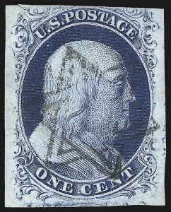 Sale Number 998, Lot Number 354, Plate Two Gem Examples1c Blue, Ty. II (7), 1c Blue, Ty. II (7)