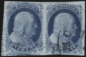 Sale Number 998, Lot Number 356, Plate Two Pairs and Strips1c Blue, Ty. II (7), 1c Blue, Ty. II (7)
