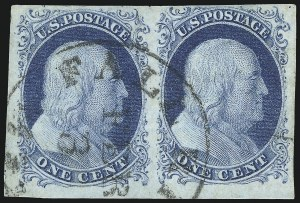Sale Number 998, Lot Number 357, Plate Two Pairs and Strips1c Blue, Ty. II (7), 1c Blue, Ty. II (7)