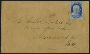 Sale Number 998, Lot Number 41, Plate One Early - Type II On Cover1c Blue, Ty. II (7), 1c Blue, Ty. II (7)