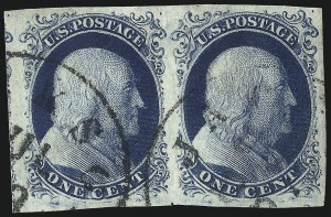Sale Number 998, Lot Number 429, Plate Four Type II1c Blue, Ty. II (7), 1c Blue, Ty. II (7)
