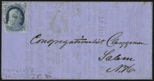 Sale Number 998, Lot Number 49, Plate One Early - Type II On Cover1c Blue, Ty. II (7), 1c Blue, Ty. II (7)