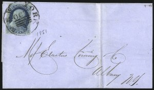 Sale Number 998, Lot Number 51, Plate One Early - Type II On Cover1c Blue, Ty. II (7), 1c Blue, Ty. II (7)