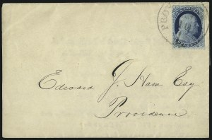 Sale Number 998, Lot Number 53, Plate One Early - Type II On Cover1c Blue, Ty. II (7), 1c Blue, Ty. II (7)