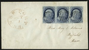 Sale Number 998, Lot Number 56, Plate One Early - Type II On Cover1c Blue, Ty. II (7), 1c Blue, Ty. II (7)