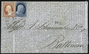 Sale Number 998, Lot Number 58, Plate One Early - Type II On Cover1c Blue, Ty. II (7), 1c Blue, Ty. II (7)