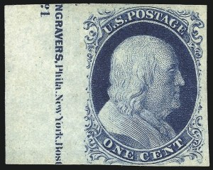 Sale Number 998, Lot Number 83, Plate One Late Imprint and Centerline Copies1c Blue, Ty. IV (9), 1c Blue, Ty. IV (9)