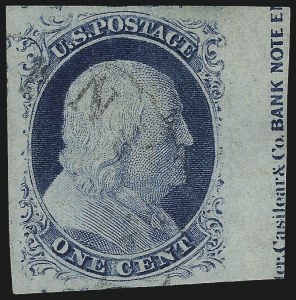 Sale Number 998, Lot Number 85, Plate One Late Imprint and Centerline Copies1c Blue, Ty. IV (9), 1c Blue, Ty. IV (9)