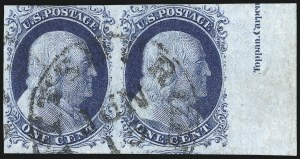 Sale Number 998, Lot Number 86, Plate One Late Imprint and Centerline Copies1c Blue, Ty. IV (9), 1c Blue, Ty. IV (9)