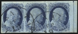 Sale Number 998, Lot Number 87, Plate One Late Imprint and Centerline Copies1c Blue, Ty. IV (9), 1c Blue, Ty. IV (9)