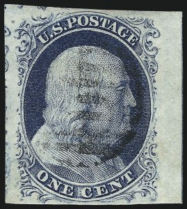 Sale Number 998, Lot Number 89, Plate One Late Imprint and Centerline Copies1c Blue, Ty. IV (9), 1c Blue, Ty. IV (9)