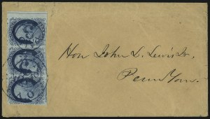 Sale Number 998, Lot Number 91, Plate One Late Imprint and Centerline Copies1c Blue, Ty. IV (9), 1c Blue, Ty. IV (9)