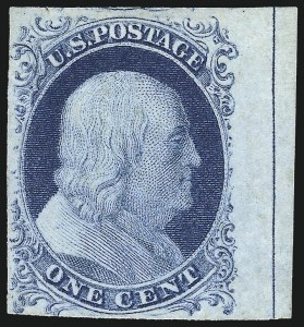 Sale Number 998, Lot Number 93, Plate One Late Imprint and Centerline Copies1c Blue, Ty. IV (9), 1c Blue, Ty. IV (9)