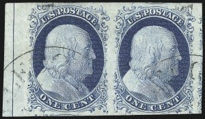 Sale Number 998, Lot Number 98, Plate One Late Imprint and Centerline Copies1c Blue, Ty. IV (9), 1c Blue, Ty. IV (9)