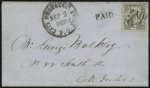 "Sale Number 1005, Lot Number 289, 1847-52 Coles Post Office City Despatch(Cole's) Post Office City Despatch, New York N.Y., 2c Black on Grayish, ""CC"" at Sides (40L5), (Cole's) Post Office City Despatch, New York N.Y., 2c Black on Grayish, ""CC"" at Sides (40L5)"