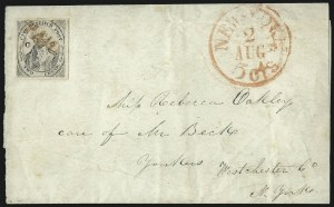 "Sale Number 1005, Lot Number 291, 1847-52 Coles Post Office City Despatch(Cole's) Post Office City Despatch, New York N.Y., 2c Black on Grayish, ""CC"" at Sides (40L5), (Cole's) Post Office City Despatch, New York N.Y., 2c Black on Grayish, ""CC"" at Sides (40L5)"