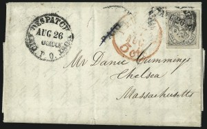 "Sale Number 1005, Lot Number 292, 1847-52 Coles Post Office City Despatch(Cole's) Post Office City Despatch, New York N.Y., 2c Black on Grayish, ""CC"" at Sides (40L5), (Cole's) Post Office City Despatch, New York N.Y., 2c Black on Grayish, ""CC"" at Sides (40L5)"