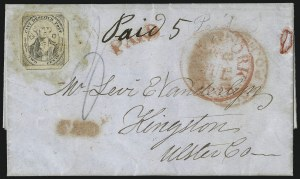 "Sale Number 1005, Lot Number 301, 1847-52 Coles Post Office City Despatch(Cole's) Post Office City Despatch, New York N.Y., 2c Black on Grayish, Hand-Etched Sideways ""C"" at Left (40L5b), (Cole's) Post Office City Despatch, New York N.Y., 2c Black on Grayish, Hand-Etched Sideways ""C"" at Left (40L5b)"